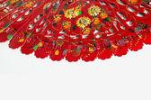 Španělská červená ventilátor — Stock fotografie