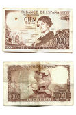 One hundred pesetas Becquer — Stock Photo