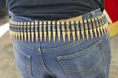 Bullets belt — Stock Photo