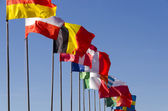 Międzynarodowych flagi — Zdjęcie stockowe