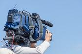 Tv cameraman — Stock Photo