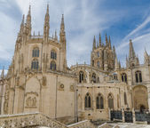 Burgos cathedral rear — Stock Photo