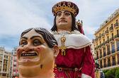 Desfile de gigantes y cabezudos — Foto de Stock