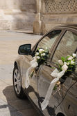 Wedding car in black — Stock Photo