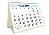 Mayo 2015 — Stock Vector