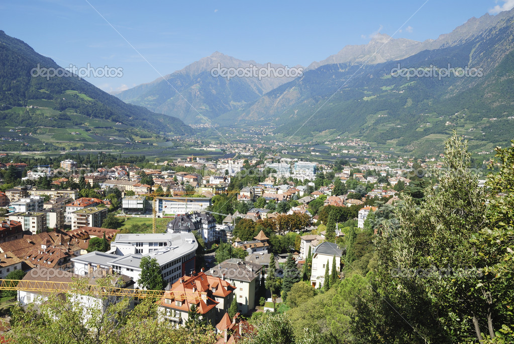 The spa town of Meran in South Tyrol (Italy) — Stock Photo #16192019