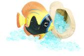 Badesalz und fisch — Stockfoto