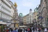 ウィーンでのペストの列 — ストック写真