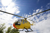 Rescue helicopter — Stock Photo