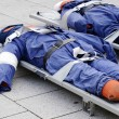 Stock Photo: Dummies on stretcher