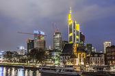Horizonte de Frankfurt — Foto de Stock