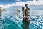 Passenger ship on Lake Garda — Stock Photo