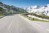 High Alpine Road — Stock Photo