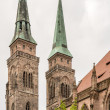 Towers of St. Sebald Church — Stock Photo #50626005