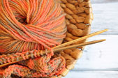 Autumn Knitting — Stock Photo