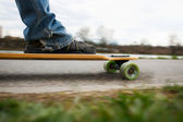 Longboarding on the promenade — Stock Photo