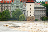 Flood in Prague — Stock Photo