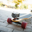 Stock Photo: Videotaping longboard