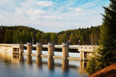 Dam at the reservoir — Stockfoto
