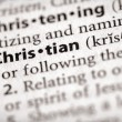 Stock Photo: Dictionary Series - Religion: Christian