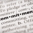 Dictionary Series - Attributes: commitment — Stock Photo #30457095