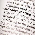 Dictionary Series - Politics: conservative — Stock Photo