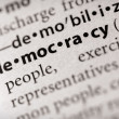 Dictionary Series - Politics: democracy — Stock Photo