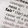 Dictionary Series - Philosophy: fair — Stock Photo #30457327