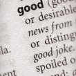 Dictionary Series - Philosophy: good — Stock Photo #30457479