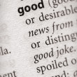 Dictionary Series - Philosophy: good — Stock Photo