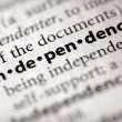 Dictionary Series - Politics: independence — Foto Stock