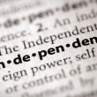 Dictionary Series - Politics: independent — Stock Photo #30457685