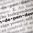 Dictionary Series - Politics: independent — Stock Photo