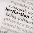 Dictionary Series - Economics: inflation — Stock Photo