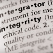 Dictionary Series - Attributes: integrity — Stock Photo