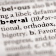 Dictionary Series - Politics: liberal — Stock Photo