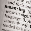Dictionary Series - Philosophy: meaning — Stock Photo