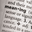 Foto de Stock  : Dictionary Series - Philosophy: meaning