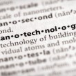 Dictionary Series - Science: nanotechnology — Stock Photo