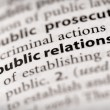 Stock Photo: Dictionary Series - Marketing: public relations