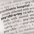 Foto Stock: Dictionary Series - Psychology: psychiatry