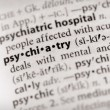 Stock Photo: Dictionary Series - Psychology: psychiatry