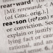 Dictionary Series - Philosophy: reason — Photo #30458325