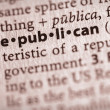 Dictionary Series - Politics: republican — Stock Photo #30458397