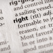 Dictionary Series - Philosophy: right — Stock Photo #30458433