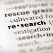 Dictionary Series - Science: research — Stock Photo