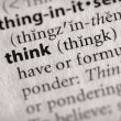 Dictionary Series - Philosophy: think — Stock Photo #30458583
