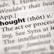 Dictionary Series - Philosophy: thought — Stock Photo