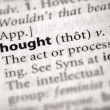Dictionary Series - Philosophy: thought — Stock Photo #30458599