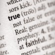 Dictionary Series - Philosophy: true — Stock Photo